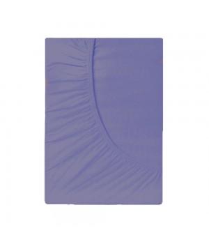 Простыня на резинке трикотаж - Лаванда