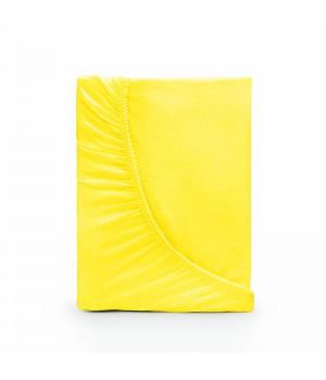 Простыня на резинке трикотаж - Лимонный