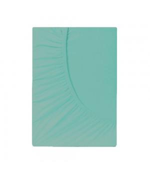 Простыня на резинке трикотаж - Ментол