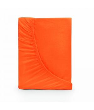 Простыня на резинке трикотаж - Оранжевый