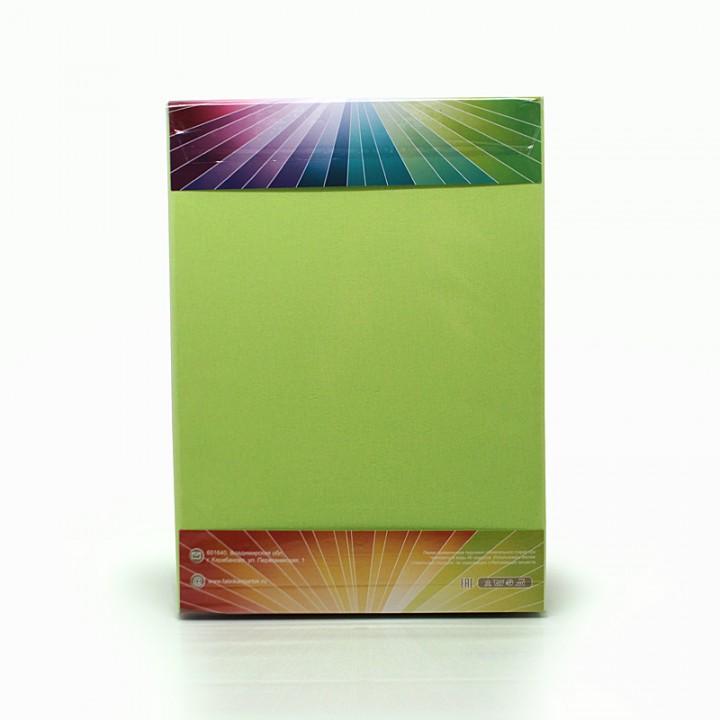 Простыня на резинке трикотажная, цвет Светло-Салатовый