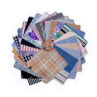 Набор ткани для пэчворка 20х20  см, 50 шт.