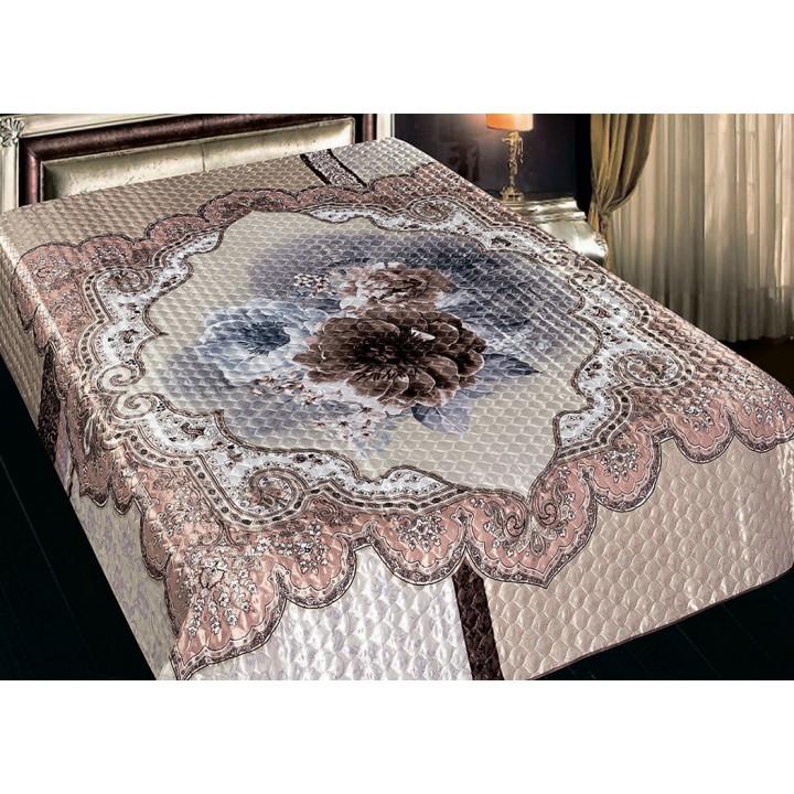 Покрывало искусственный шёлк,  размер 200х220 см, Римини