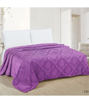 Покрывало велсофт 180х200, фиолетовое, цв.120