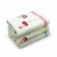 Полотенце 33х75 хлопок+махра, фламинго_01