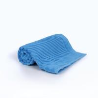 Полотенце 50х70 махра, голубое