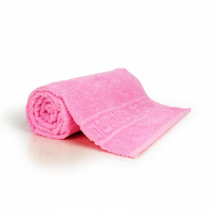 Полотенце 50х90 махра, светло-розовое