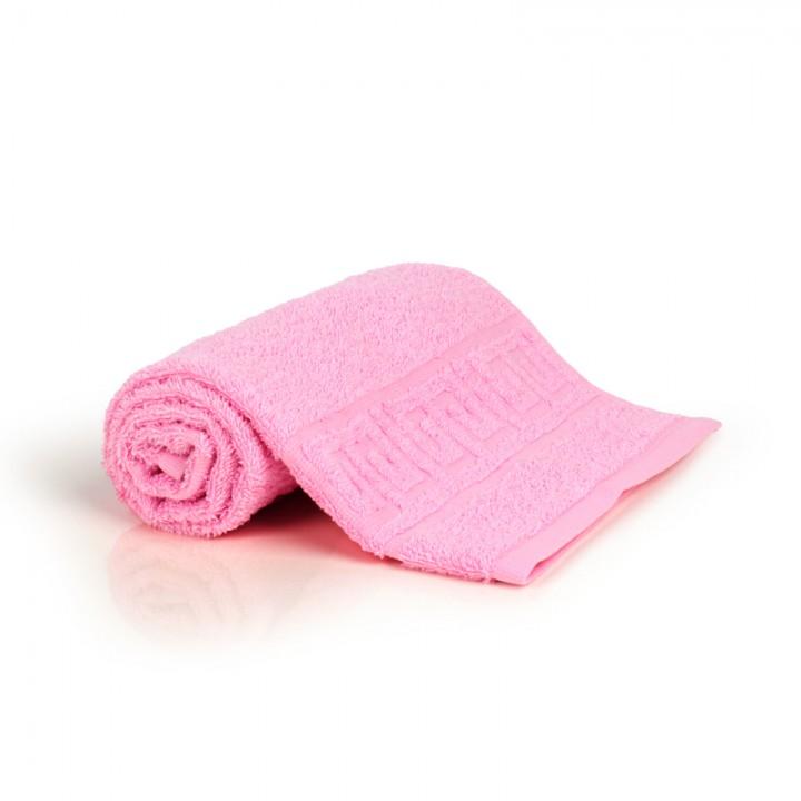 Полотенце 40х70 махровое, светло-розовое