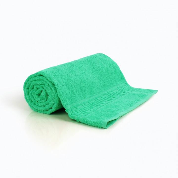 Полотенце 50х90 махра, зеленое