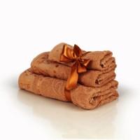 Набор махровых полотенец кофейного цвета