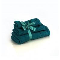 Набор махровых полотенец цвета ультрамарин