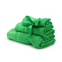 Набор махровых полотенец изумрудного цвета