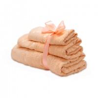 Набор махровых полотенец персикового цвета
