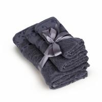 Набор махровых полотенец серого цвета