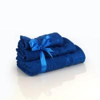 Набор махровых полотенец синего цвета