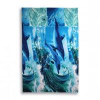 Полотенце вафельное 100х150 Дельфинарий