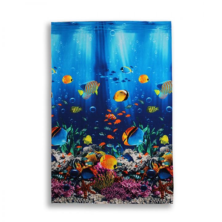 Полотенце вафельное 100х150 Подводный мир