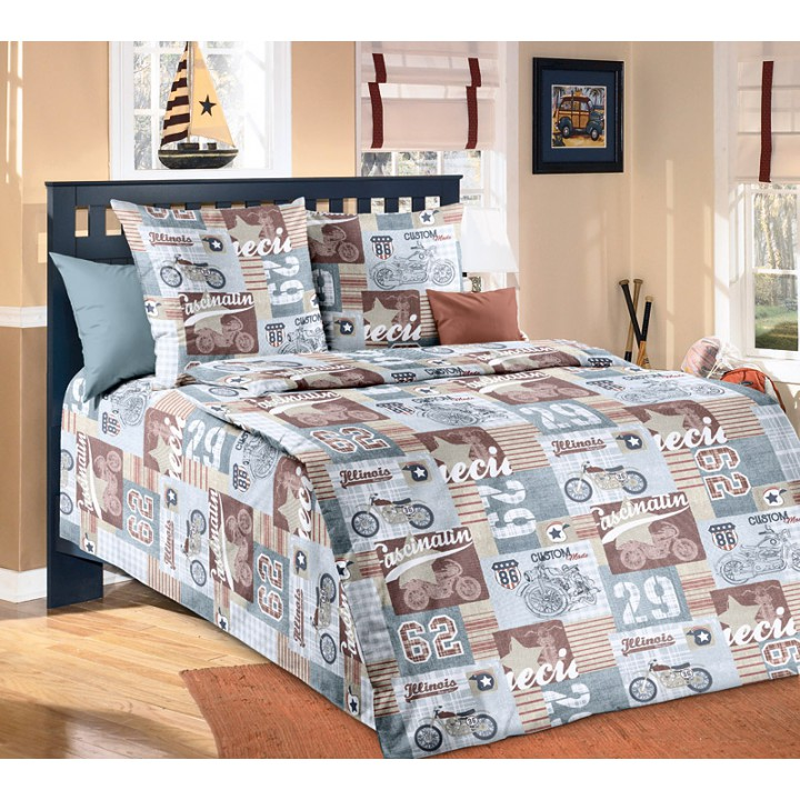 Детское постельное белье бязь 1.5 спальное Харлей
