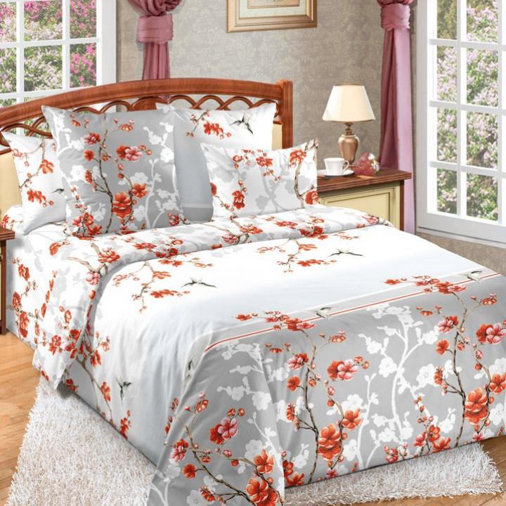 Постельное белье бязь 2 спальное простыня на резинке - Чувство