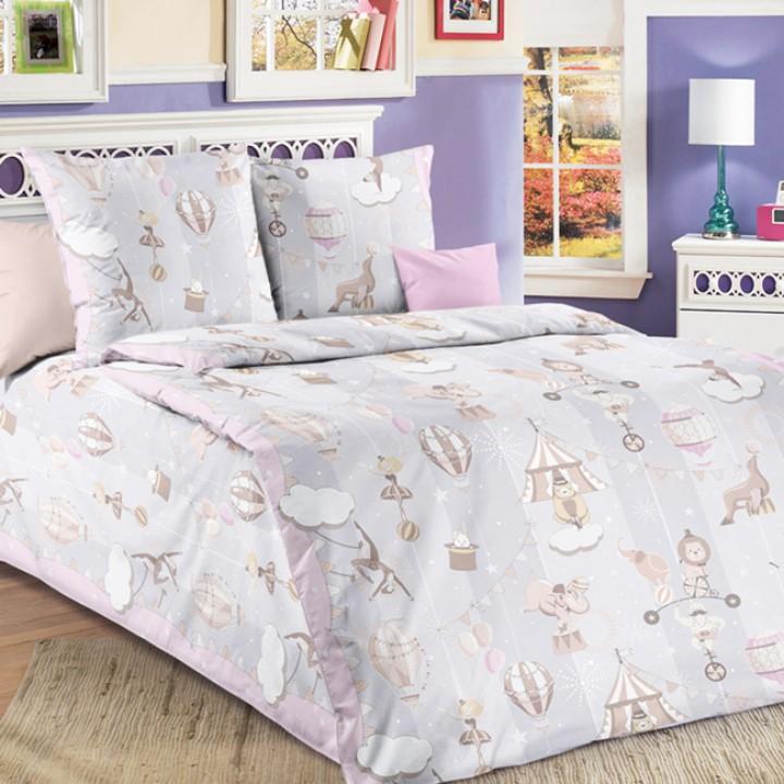 Детское постельное белье бязь 1.5 спальное Цирк