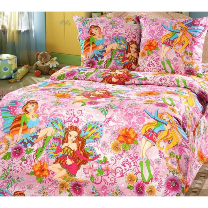Детское постельное белье бязь 1.5 спальное Добрые феи