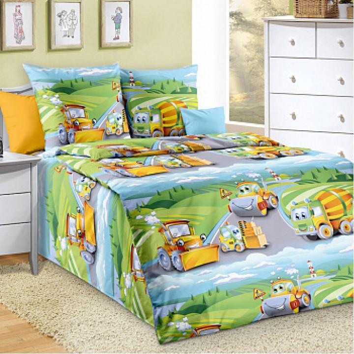 Детское постельное белье бязь 1.5 спальное Дорожный патруль