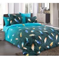 Постельное белье бязь 2 спальное с простыней на резинке - Дуновение