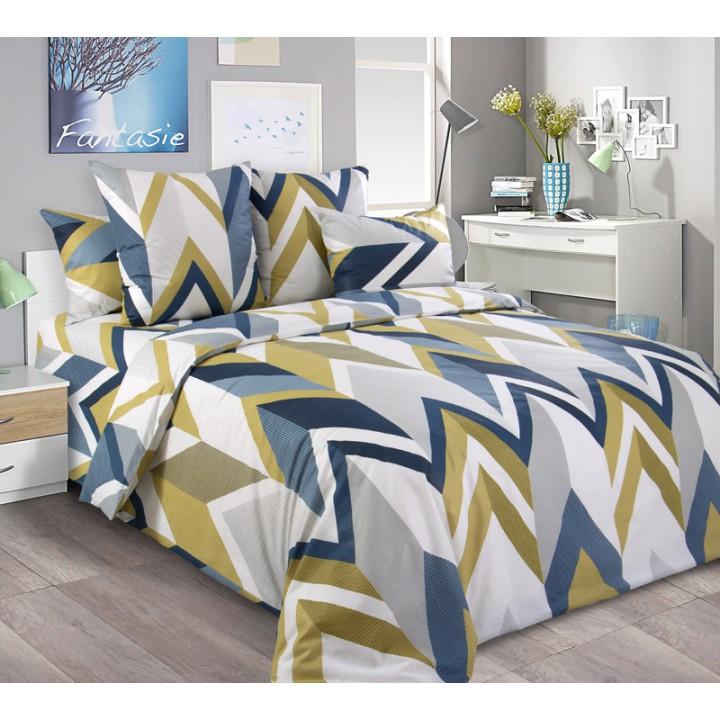 Постельное белье бязь 2 спальное с простыней на резинке180х200х25  - Энди