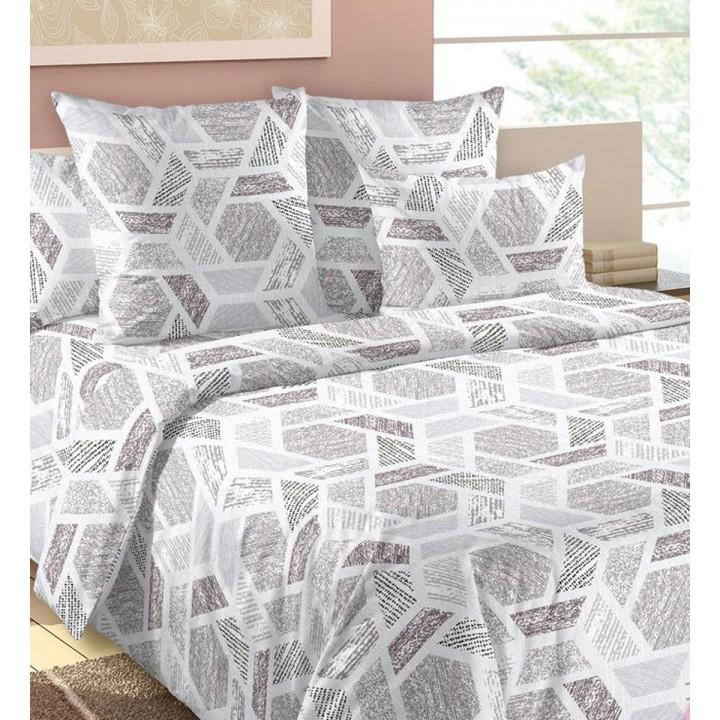 Постельное белье бязь 2 спальное простыня на резинке - Хай-тек