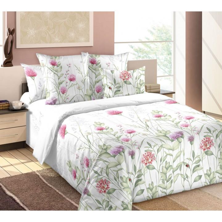 Постельное белье бязь 2 спальное простыня на резинке - Леся