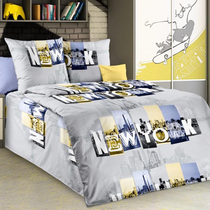 Детское постельное белье бязь 1.5 спальное Манхэттен