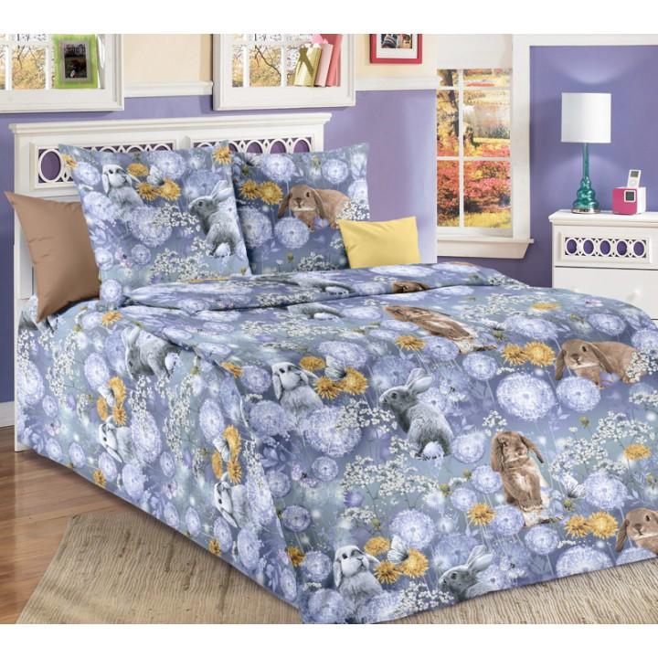 Детское постельное белье бязь 1.5 спальное Мой зайка