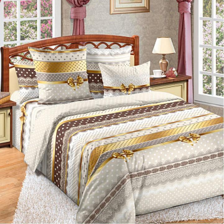 Постельное белье бязь 2 спальное простыня на резинке - Ненси