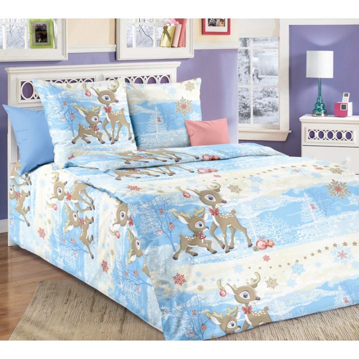 Детское постельное белье бязь 1.5 спальное Оленята