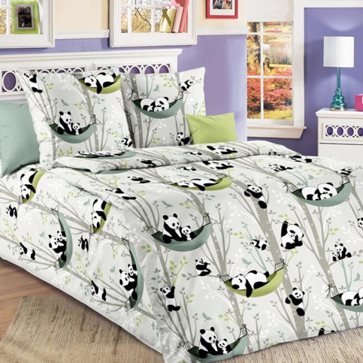 Детское постельное белье бязь 1.5 спальное Веселые панды