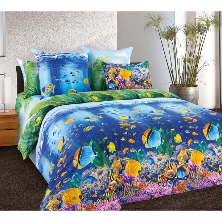 Постельное белье бязь 1.5 спальное Подводный мир