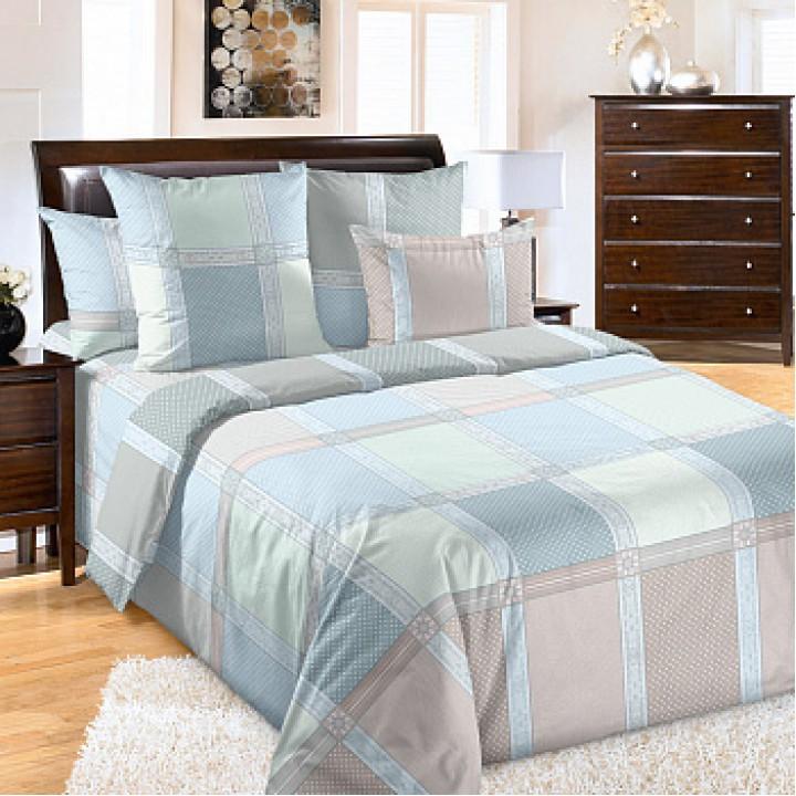 Постельное белье бязь 2 спальное с простыней на резинке160х200х25  - Реприза