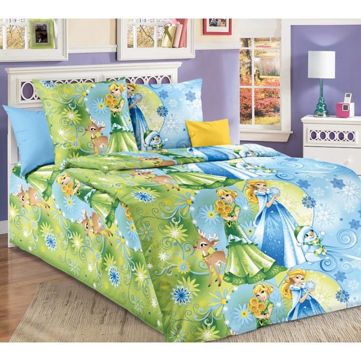 Детское постельное белье бязь 1.5 спальное Сестрички