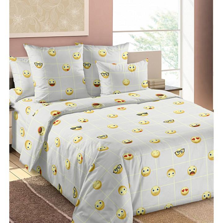Постельное белье бязь 2 спальное - Смайлы