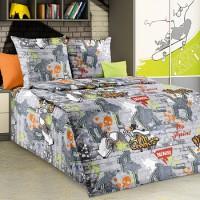 Детское постельное белье бязь 1.5 спальное Стрит-арт