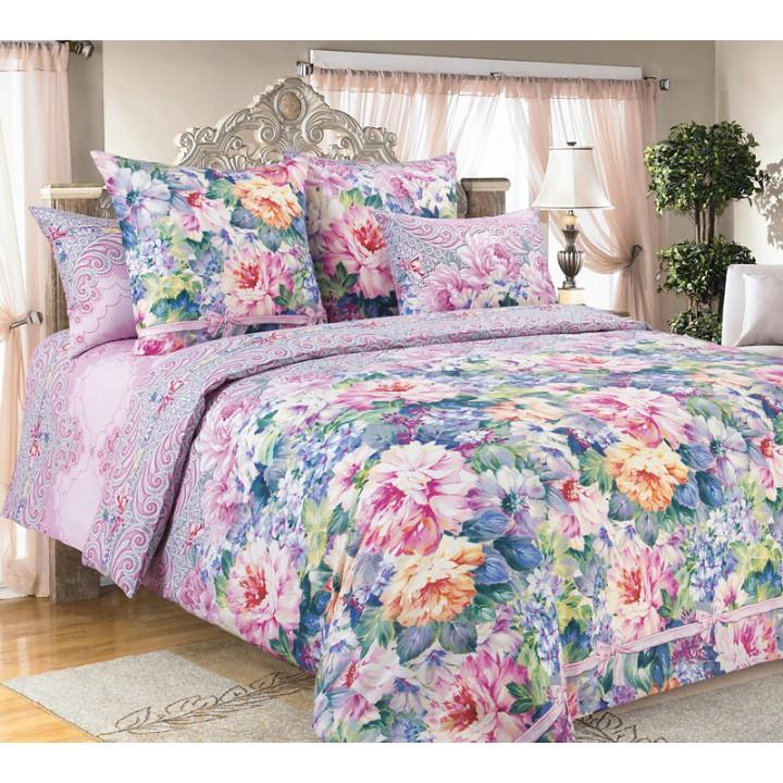 Постельное белье бязь 2 спальное с простыней на резинке160х200х25  - Влюбленность