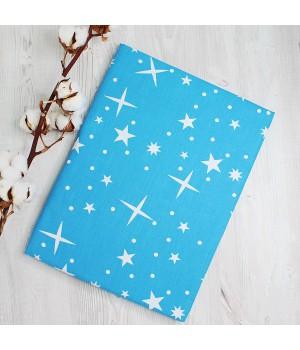 Наволочки 50х70 2шт.  поплин - Звезды на синем