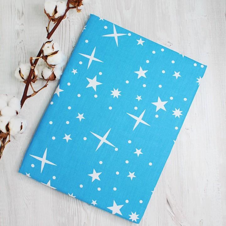 Наволочки 50х70 - 2шт.  поплин - Звезды на синем