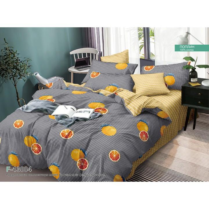 Постельное белье из поплина - 2 спальное - простыня на резинке - F-13004