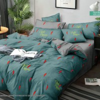 Постельное белье из поплина - 2 спальное - простыня на резинке 180х200х25 - F-19012