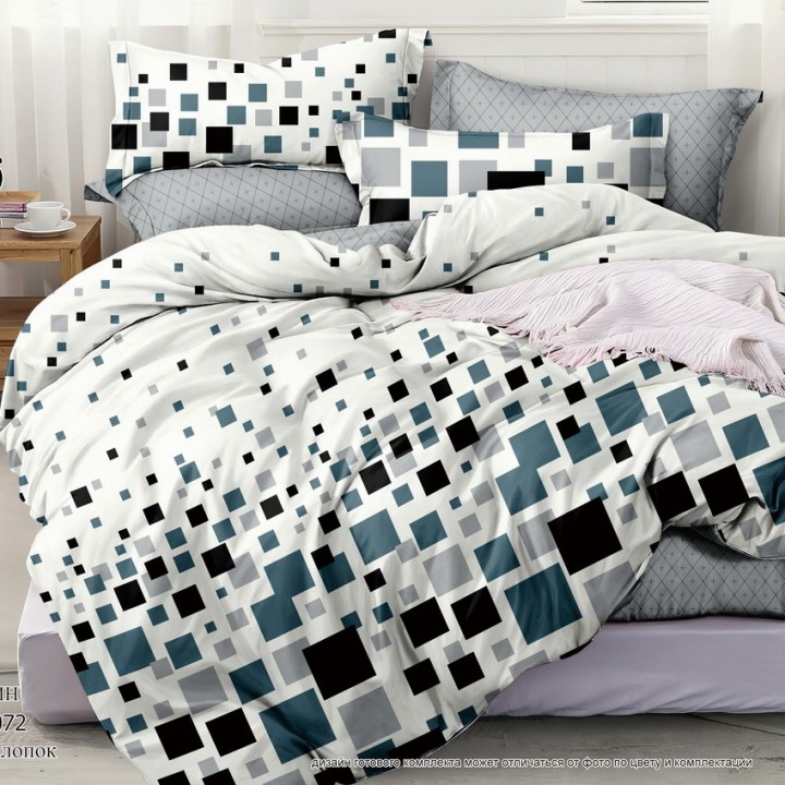 Постельное белье из поплина - 2 спальное - простыня на резинке 160х200х25 - IT-2072