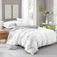Постельное белье из поплина - 2 спальное - простыня на резинке 160х200х25 - K-1010