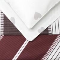 Постельное белье поплин 1.5 спальное K-970