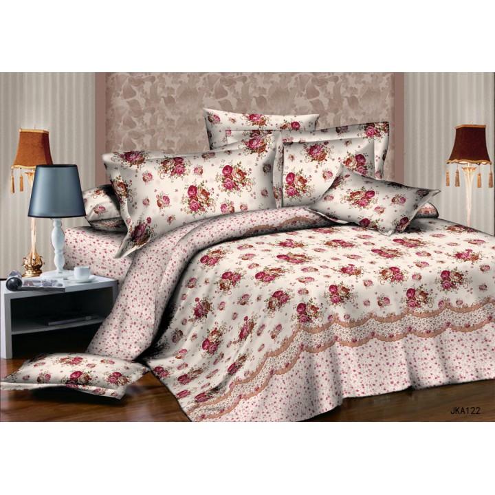 Постельное белье поплин 1.5 спальное K-70122