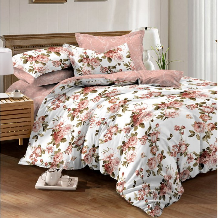 Постельное белье из поплина - 2 спальное - простыня на резинке 160х200х25 - K-895